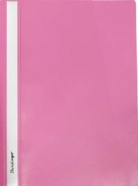 Скоросшиватель пластиковый 180мкм Berlingo розовый 4112